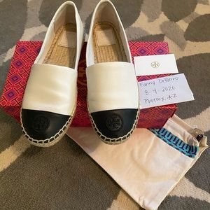 Leather Color Block Tory Burch Espadrilles